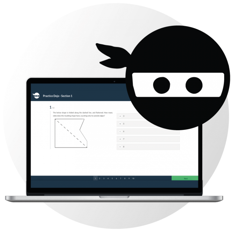 Exams Ninja over the ECAA.Ninja platform screenshot