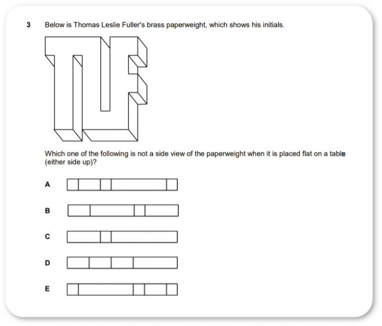 ECAA problem solving practice question
