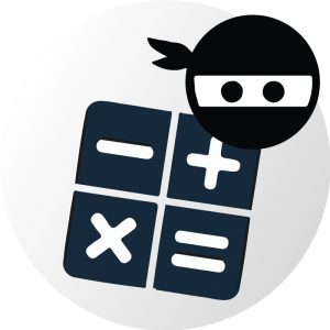 Exams.ninja over buttons on a calculator representing the ECAA advanced mathematics section